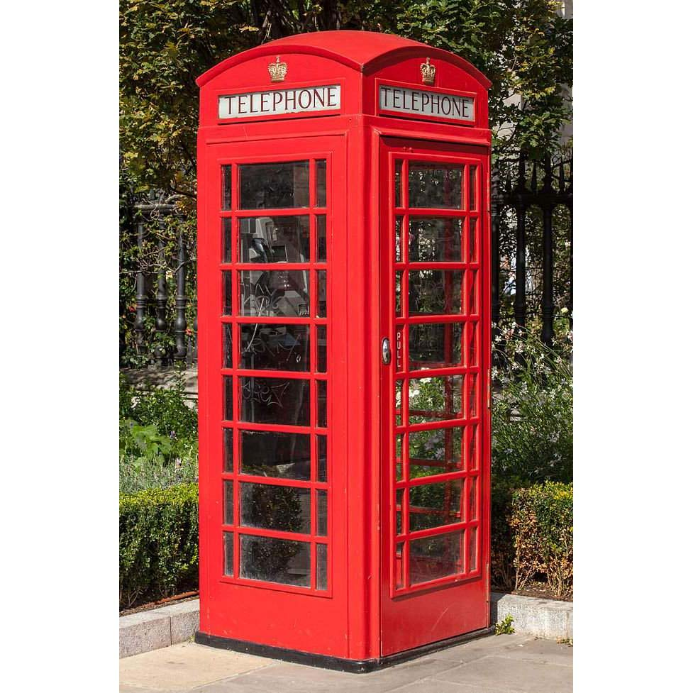 K6 Red Telephone Box - Scottish Crown