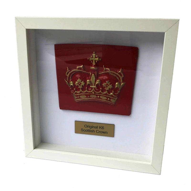 Framed K6 Scottish Crown - Original - Rare