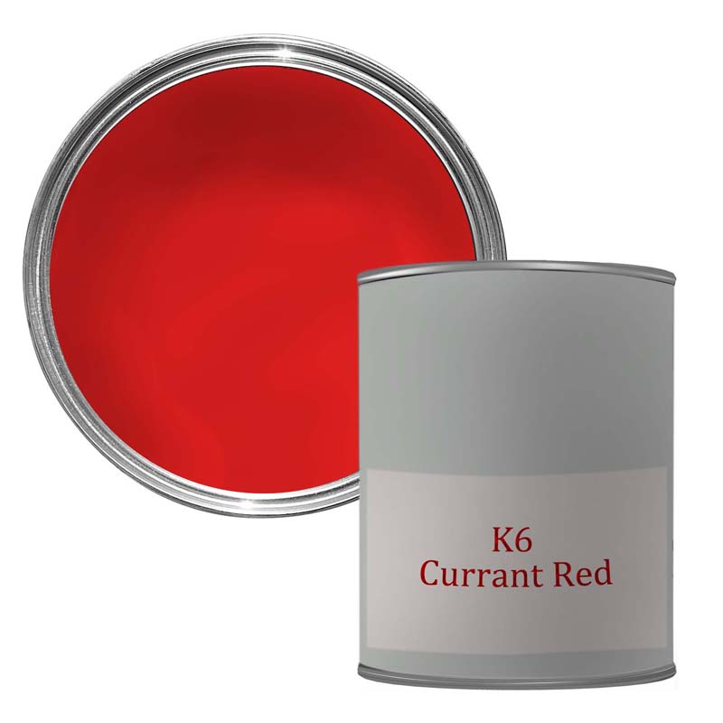 K6 REFINISH PAINT CURRANT RED GLOSS