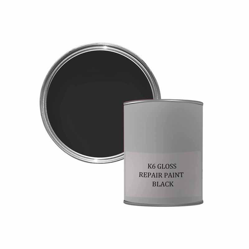 K6 GLOSS REPAIR PAINT - BLACK 500ML