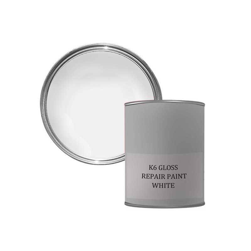 K6 GLOSS REPAIR PAINT - WHITE 500ML
