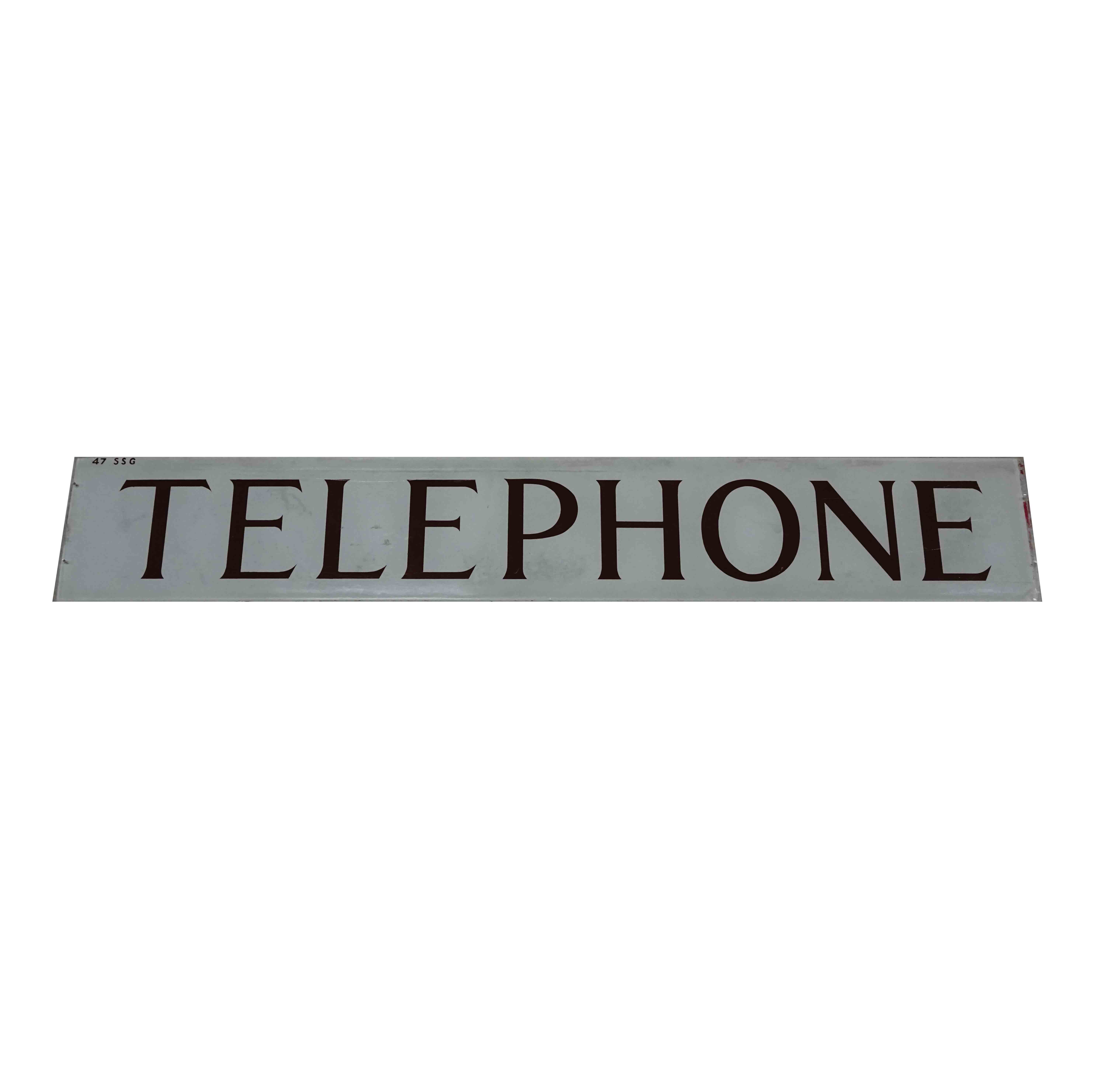 ORIGINAL GLASS TELEPHONE SIGN