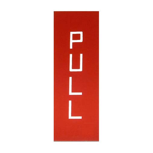K6 PULL-PUSH KIOSK DOOR SIGN