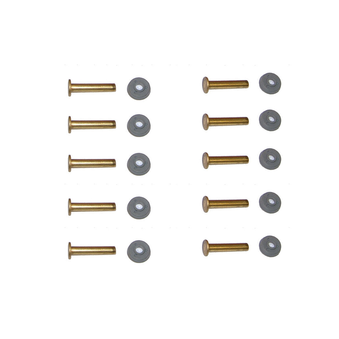 K6 WINDOW RIVETS X 10 INCLUDING RIVET CLIPS