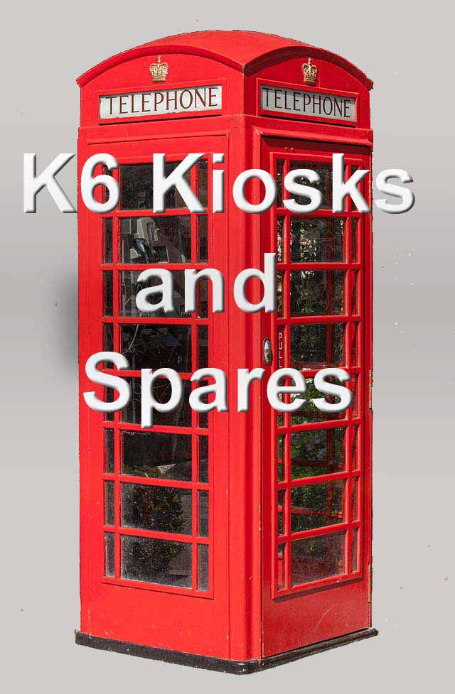 RED TELEPHONE BOX BOOTH KIOSK K6 REPRODUCTION GLASS TELEPHONE SIGN